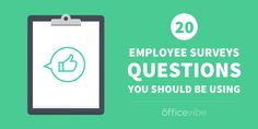 Finding good questions to ask is hard, so we#39;re here to help. Here are 20 employee survey questions you can use in your next engagement survey.