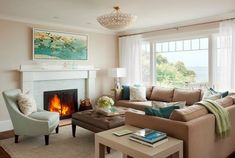 House of Turquoise: LeBlanc Design...love the layout of a small room with lots of intimate seating... (and a great view)