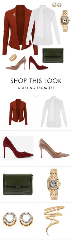 """presentation_red"" by madamejk on Polyvore featuring WithChic, Valentino, CHARLES & KEITH, Sergio Rossi, Marni, Cartier, Alexander Wang and Tiffany & Co."