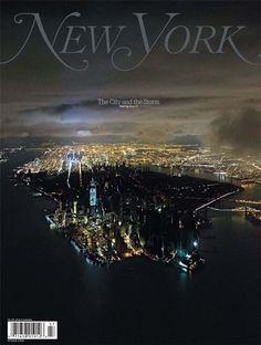 """Imagem divulgada em site da 'New York Magazine' mostra Manhattan no escuro, após passagem de supertempestade (Foto: Reprodução/Iwan Baan/""""New York Magazine"""")"""