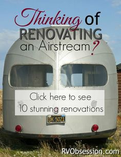 Airstream Renovations - Renovating a used airstream delivers that perfect RV that has all the features that are most important to you. With some design flair, these homes on wheels are both beautiful and functional. Airstream Vintage, Airstream Decor, Airstream Travel Trailers, Airstream Living, Airstream Campers, Airstream Remodel, Travel Trailer Remodel, Airstream Interior, Camper Renovation