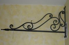 hand forged sign bracket