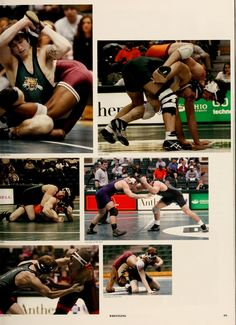 Athena Yearbook, 2007. Bobcat Wrestling in action :: Ohio University Archives