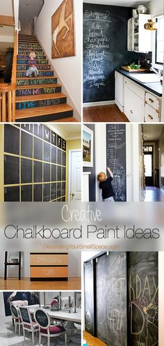Creative ideas & tutorials on modern ways to use chalkboard paint!