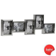 City 5 Multi Photo Frame - Silver