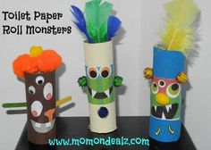 crafts with toilet paper rolls | Halloween Crafts for Kids: Toilet Paper Roll Monsters | Freebie Spot