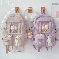 Stylish School Bags, Cute School Bags, Kawaii Bags, Kawaii Clothes, Girl Backpacks, School Backpacks, Fashion Bags, Fashion Backpack, Kawaii Accessories