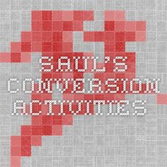Saul's conversion activities