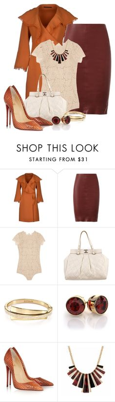 """""""Senza titolo #895"""" by elenapelly ❤ liked on Polyvore featuring Ermanno Scervino, Drome, I.D. SARRIERI, Chanel, Carolee, Christian Louboutin and Betty Jackson"""
