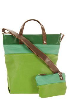 Frauentaschen :: DAILY :: D12 | ZWEI  Taschen Handtasche :: lederfrei :: mehrfarbig :: grün