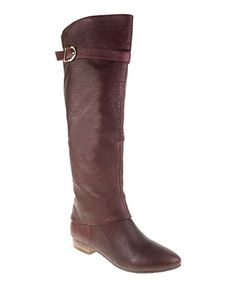 Look what I found on #zulily! Bordeaux Set in Stone Leather Boot by Chinese Laundry #zulilyfinds