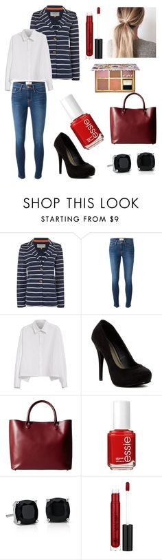 """Untitled #191"" by welcome-to-newyork on Polyvore featuring Brakeburn, Frame Denim, Y's by Yohji Yamamoto, Michael Antonio, Meli Melo, Essie, Blue Nile, Anastasia Beverly Hills and Benefit"