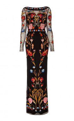 Long Toledo Tulle Dress, Temperley London
