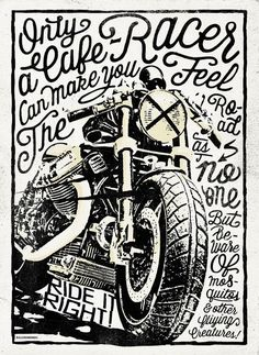 Poster Cafe Racer, for a Constructors Exhibition Alex Ramon Mas Designs ® Cafe Racer Style, Cafe Racer Bikes, Cafe Racer Motorcycle, Motorcycle Art, Bike Art, Motorcycle Birthday, Moto Guzzi, Image Moto, Motos Vintage