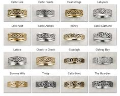 Nice chart detailing the different Celtic wedding ring designs out there.