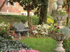memory garden bench and flower ideas