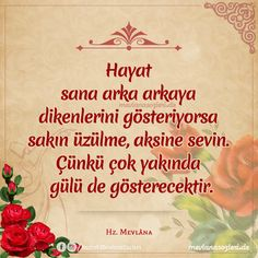mevlana sözleri Allah Islam, S Word, Meaningful Words, Cool Words, Feel Good, Affirmations, Qoutes, Motivational Quotes, Messages