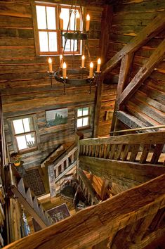 The Lodge – Big Wood Timber Frames Log Cabin Living, Log Cabin Homes, Log Cabins, Cabin Lighting, Cabin Interiors, Cabins In The Woods, Future House, Beautiful Homes, House Design