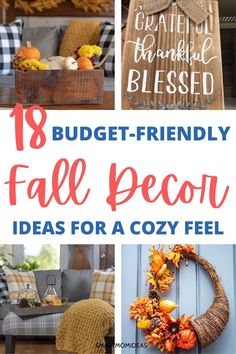 Fall decor ideas for a cozy feel. Get some fall ideas for decorating your living room decor. Fall pumpkin ideas and DIY fall decor crafts. #falldecor #autumdecor Home Organization Hacks, Closet Organization, Faux Pumpkins, Simple Centerpieces, Pumpkin Ideas, Declutter Your Home, Wood Crates, How To Antique Wood, Autumn Theme