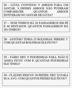 Problemas de matemática para o 2° e 3° ano fundamental      2° e 3°ano Matemática Problemas adição subtração      Adição subtração Matemáti...