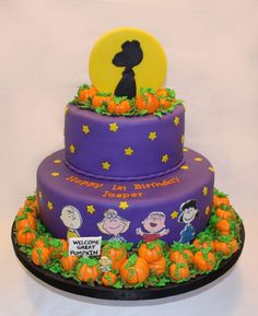 Peanut's it's the Great Pumpkin Charlie Brown Halloween birthday cake! Description from pinterest.com. I searched for this on bing.com/images