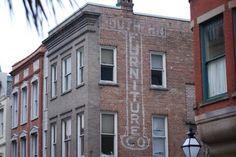 Furniture ghost sign, Charleston, SC