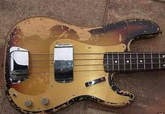 Vintage Fender Precision that has been played a few times.