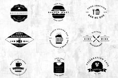 09 Vintage Logos - Restaurant / Cafe by ONE7 CONCEPT on Creative Market