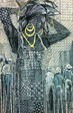 Fabulous exhibition by Nigerian artist Nike Davies-Okundaye. Catch it if you can - http://www.abidemi.tv/event/nike-davies-okundaye-the-power-of-one-woman/