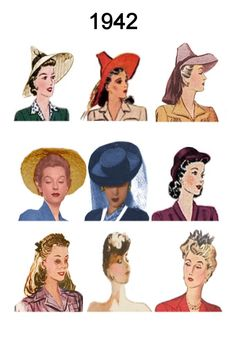 1942 Image of C20th Fashion History Hair and Hat Styles 1940s Hairstyles bc022b2f79f