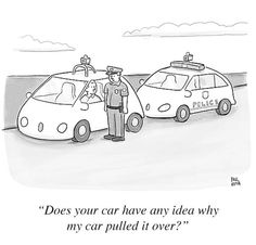 """""""Does your car have any idea why my car pulled it over?"""""""