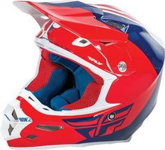 FLY RACING F2 CARBON PURE HELMET RED/BLUE/WHITE 2X