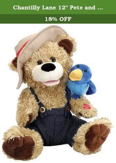 "Chantilly Lane 12"" Pete and Tweet Duet Sings ""Zip-A-Dee-Doo-Dah"". My, oh my, oh what a wonderful gift! Pete & Tweet: The Singing Duet Plush Toy pairs a bear and his pet bird in cuddly, catchy, adorable fashion. They move and sing ''Zip-a-Dee-Doo-Dah'' for a full 40 seconds. It's great for an Easter gift, a pal for little ones, and much, much more. 12-inch adorable duet singing plush gift. The pair sings 40 seconds of accompanied music. ''Zip-a-dee-doo-dah'' . 3 AA batteries are included…"