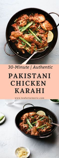 Chicken Karahi, or Kadai chicken, is undoubtedly one of the most popular curries in and out of Pakistan and India. This is a restaurant-style Pakistani Chicken Karahi recipe that can be prepared quickly and easily with no finicky steps. Chicken Karahi Recipe Pakistani, Pakistani Chicken Recipes, Indian Food Recipes, Ethnic Recipes, Pakistani Recipes, Pakistani Desserts, Pakistani Dishes, Desi Food, Cooking Recipes