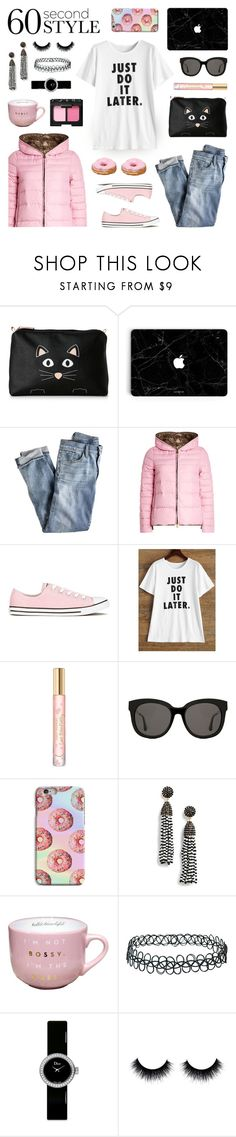 """""""Get the Look - Winter Style"""" by lgb321 ❤ liked on Polyvore featuring Stella & Max, J.Crew, Duvetica, Converse, Tory Burch, Gentle Monster, BaubleBar, Topshop, Christian Dior and NARS Cosmetics"""
