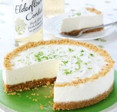 Elderflower  Lime Cheesecake