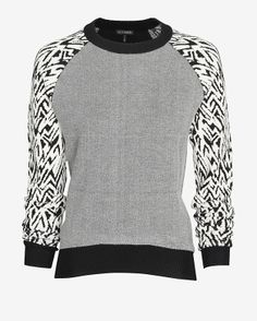 Exclusive for Intermix Jacquard Sleeve Sweater