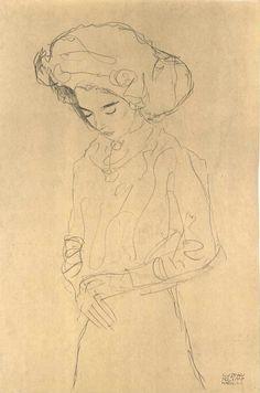 Gustav Klimt sketch.