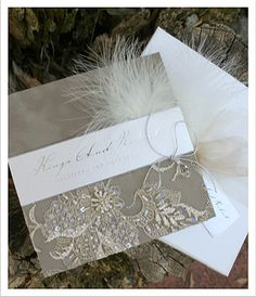 Love this invitations for the wedding - they're perfect, so beautiful. The Empress - Lace Wedding Invitations - Huetopia Design