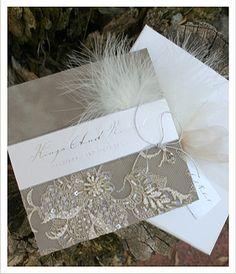The Empress - Lace Wedding Invitations - Huetopia Design