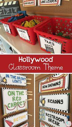 Hollywood classroom theme editable decor and organization