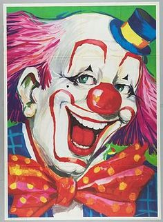 """Circus Poster - This will make an excellent bean bag toss board with clown mouth cut out to """"eat up"""" bean bags!"""