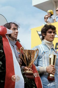 Jackie Stewart and François Cevert – first and second place for Team Tyrrell at the German Grand Prix 1971