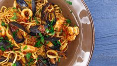 Serve this spicy seafood pasta as a main dish or first course