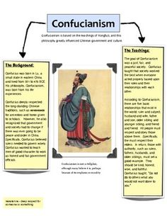 the role of confucianism in the history of chinese civilization China is one of the most ancient civilizations on earth, and chinese religion is one of the oldest forms of religion evidence of burial practices has been dated to as early as 5000 bce today, chinese religion is a complex mix of chinese folk religion, taoism, buddhism, confucianism and communist anti-religious sentiment.