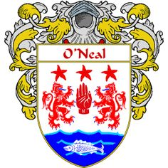 O'Neal Coat of Arms   http://irishcoatofarms.org/ has a wide variety of products with your surname with your coat of arms/family crest, flags and national symbols from England, Ireland, Scotland and Wale