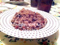 Il risotto al radicchio e speck è un piatto invernale che unisce il gusto amaro a quello dolce!