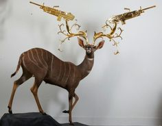 Peter Gronquist animal taxidermy art Archives - Meanwhile. in Art - Learn about Art, Sell Your Art, Buy Artwork, Learn about Famous Artists Kitsch, Deadly Animals, House Furniture Design, Chair Design, Design Design, Modern Furniture, 3d Art, Hunting Girls, Guns And Roses