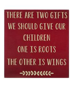 Take a look at this Red & Cream Two Gifts Wall Art by Vinyl Crafts on #zulily today!