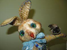 Купить Зайка тедди из плюша Василинка Прекрасная - бежевый, зайка, зайка тедди, зайка текстильная